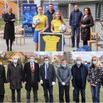 Začetek EURA U21 v Celju: dresi in žoge za dekleta, zastave za našo reprezentanco in drevesa držav, ki jih bo gostilo Celje