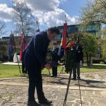 Ob dnevu upora proti okupatorju v Parku svobode položili venec