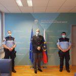Sprejem za celjska policista, ki sta občanu rešila življenje