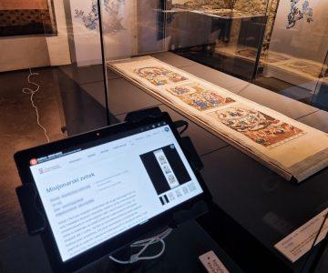 Dinamična spletna predstavitev dragocenega misijonarskega zvitka iz Šanghaja. (Arhiv PMC)
