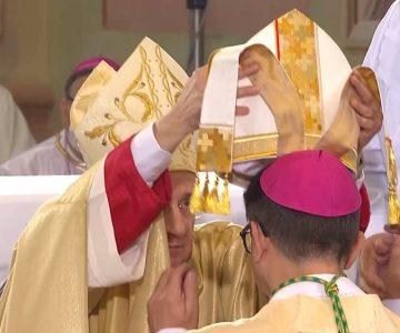 Posvetitev novega celjskega škofa Maksimiijana Matjaža (foto: RTV SLO/zaslonska slika)
