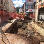 Arheološke raziskave na mestu, kjer bo postavljena nova podzemna zbiralnica odpadkov