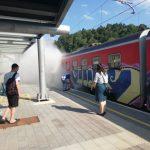 Zagorel potniški vlak na železniški postaji v Štorah (foto)