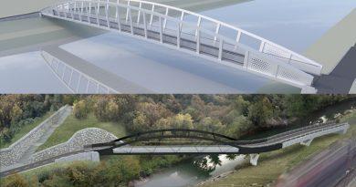 Tako bosta videti nova kolesarska mostova pri Špici in čez Voglajno (foto)